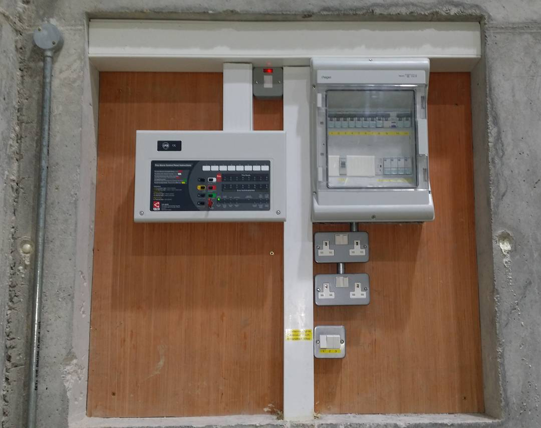 Main distribution board and Fire alarm panel