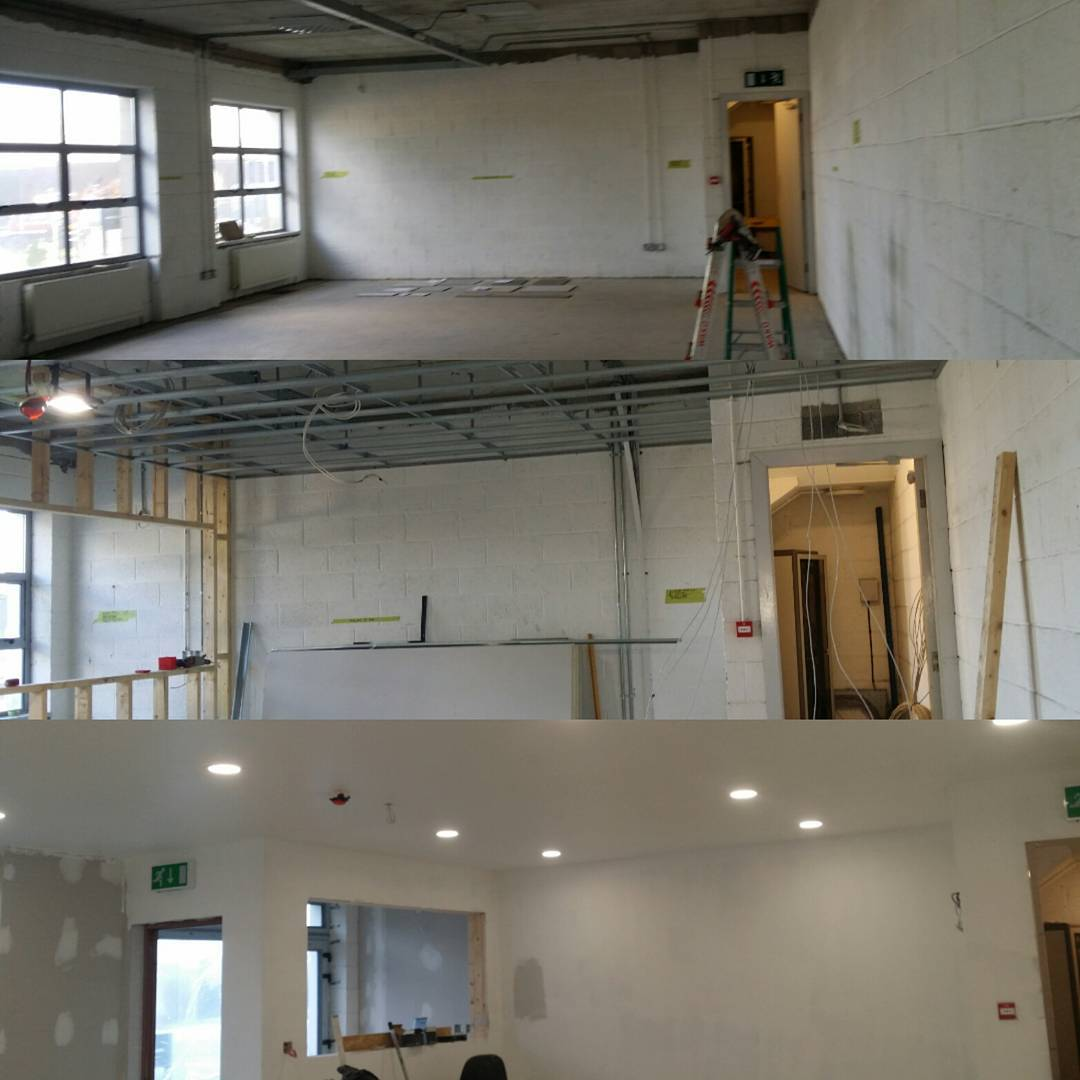 The New Offices at Ace Autobody in Limerick are starting to take shape.  For details and pricing call 0879949215 or email brendan@onepower.ie