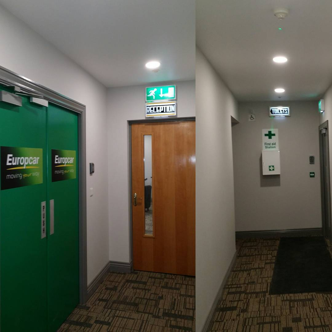 New corridor area at Ace Autobody Limerick