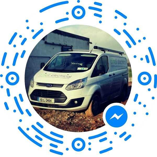 Just scan to start a Facebook messenger chat.